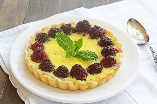 Creamy Custard Berry Tarts - from @the wicked noodle
