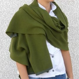 Knitted Shawl - Green