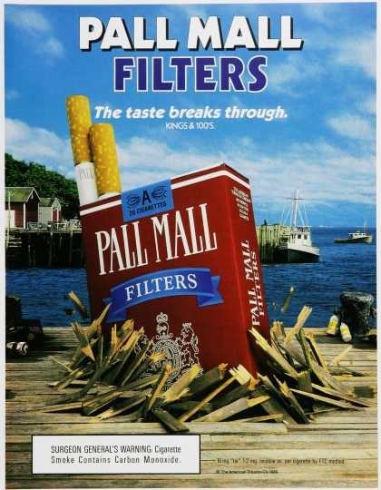pall mall singles & personals 1 a classic cigarette dating to 1899 the original unfiltered pall mall in the red soft-pack was the number one selling brand in the us through the mid 60s because of its distinctive smooth.