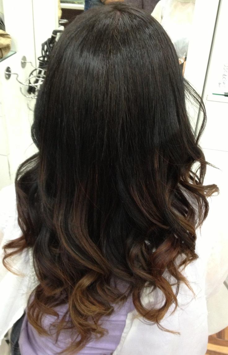 Ombre hair, dark ombre hair, mechas californianas