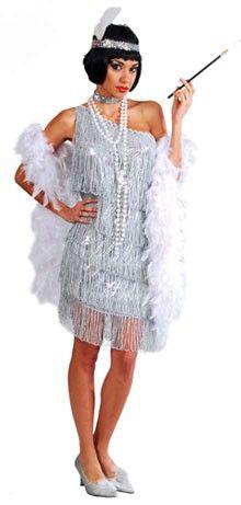 Disfraz de Charleston Plata para mujer