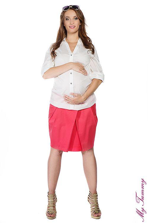 Koszula ciążowa biała