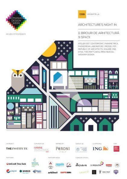 Architecture's Night In - 21 mai, începând cu ora 19:00. 10 birouri de arhitectură își deschid porțile și îi invită pe studenți, colegi arhitecți și designeri să le viziteze sediul, să le cunoască echipa și proiectele sau să participe la petrecerile tematice organizate. Abia așteptăm să vedem cum arată birourile arhitecților. #livingatwork