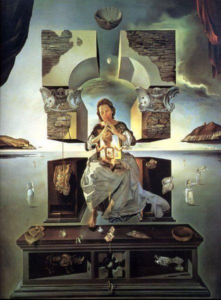 Autor: Salvador Dalí (España) Título: La madonna de Port Lligat Cronología: 1950 Técnica: Óleo sobre lienzo Medidas: 144 cm x 96 cm Escuela: Surrealismo Tema: Retrato