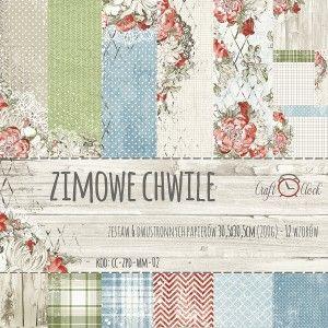 ZIMOWE CHWILE - zestaw papierów 30,5x30,5cm