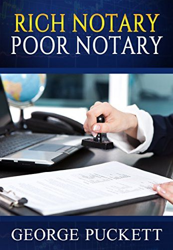 Rich Notary Poor Notary (Home Based Businesses Book 1):   This book details the process of going from a Notary to a Notary Signing. If you are already a Notary, there is nothing blocking you from becoming a loan signing agent. What can you earn? Well, what do you want to earn? You can earn as much as you wish at $50 to $150 per signing. This book will put you on the road to becoming a Rich Notary. This is not a training manual but a GPS guiding to the Jumping off point where you can be...