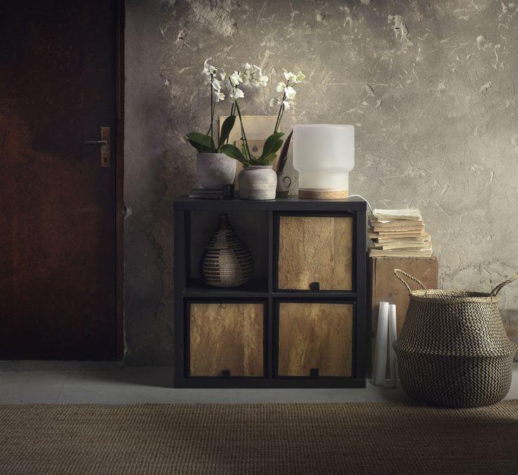 KALLAX Open kast | #IKEA #IKEAnl #DOMPEN #mand #kokospalmblad #kokospalm #opruimen #opbergen