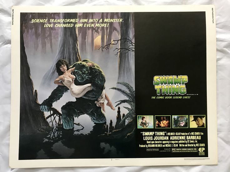 """SWAMP THING"" 1982 ORIGINAL MOVIE POSTER FIRST ISSUE 22X28 WES CRAVEN DC COMICS"