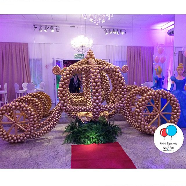 #carruagem #baloes #balloons #andrefigueiredo #gracepires #cinderela #princess #princesas