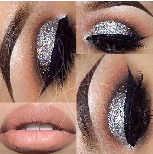Photo: Love this glitter cut crease
