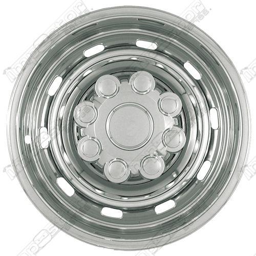 "Dodge Ram 2500/3500 2003-2011 Chrome Wheel Covers, 10 Rounded Slots (17"" Wheels)"