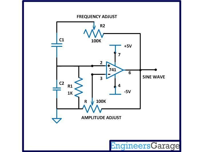 Circuit Diagram Of Sine Wave Frequency Generator
