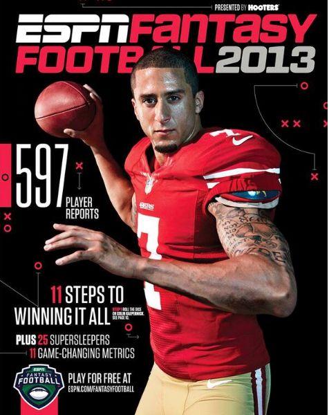 Colin Kaepernick Covers ESPN Fantasy Magazine! Talks Losing CrabTree & Improving His Game With 'Inside the 49ers'! (josalynmonet.com)