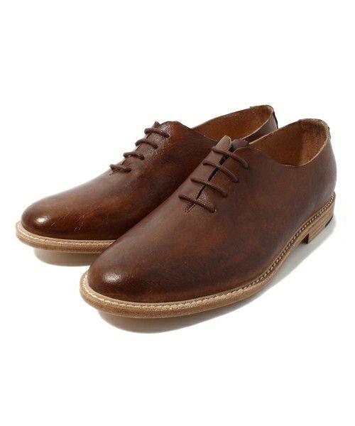 ADPOSION(アドポーション)の【MEN'S NIN-NO4月号掲載商品】Maine St Footwear 『 PAINTER』(ドレスシューズ) ブラウン