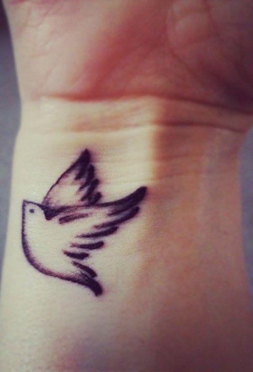 Small Bird Tattoo On Wrist My