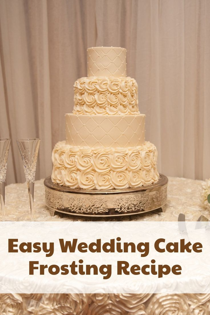 Easy White Wedding Cake Frosting Recipe | Sweet Treats | Pinterest ...