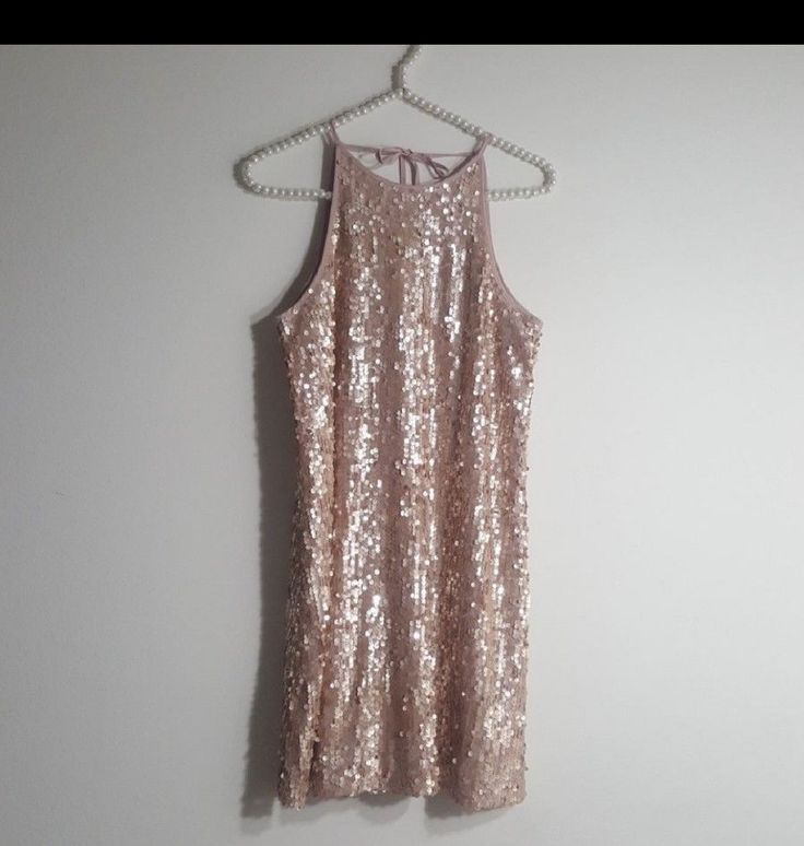 Cool Awesome  Womens Forever 21 Rose Gold  Sequin  Club/Cocktail dress SIze M 2017 2018 Check more at http://24store.cf/fashion/awesome-womens-forever-21-rose-gold-sequin-clubcocktail-dress-size-m-2017-2018/