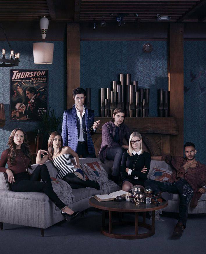 The Syfy's adaptation of Lev Grossman's The Magicians Also the reviewer says stay with the books till the 2nd one--they get better. My opinion so far is I have not warmed to any of the characters.