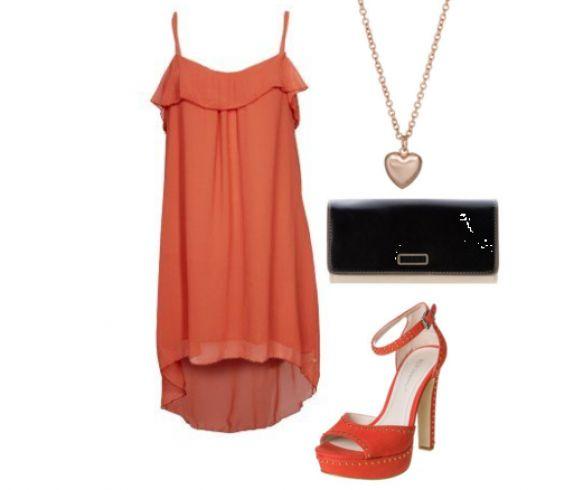 #Laks #kjole og #højhælede #sandaler