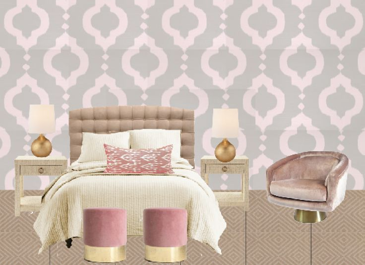 Best Blush Pink And Beige Bedroom With Aux Abris Mamounia 400 x 300