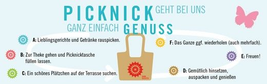 (Angebot) Picknick im Gartenlokal – im Dank Augusta in der Flora Köln. von Dank Augusta  Regionales und Saisonales aus der Küche von Dank Augusta: ausgemacht lecker, hausgemacht frisch und appetitlich fürs Picknick verpackt. Kombinieren Sie nach Herzenslust Augusta´s Lieblingsspeisen: Hinein damit in die Dank Augusta-Tasche und hinaus auf die Terrasse zu einem der vielen schönen Plätzchen.  STILPUNKTE LIFESTYLE GUIDE