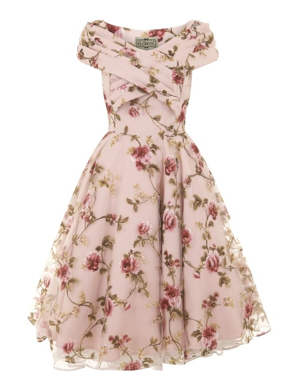 Collectif Dorothy Tulle floral swing dress