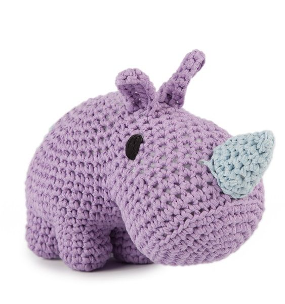 DIY Crochet Set Rhino Lila Dusk | Hoooked