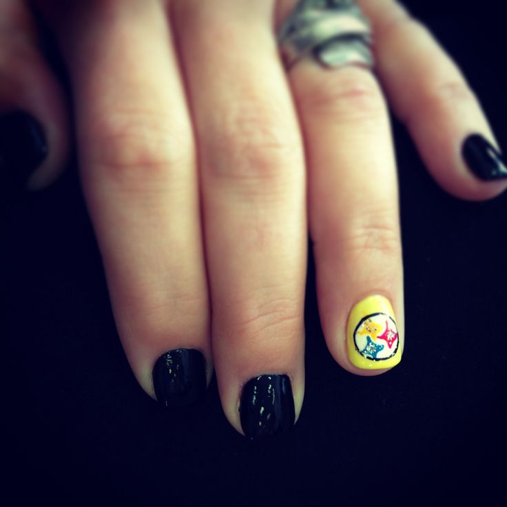 The 24 best Steelers Nail Designs images on Pinterest | Pittsburgh ...