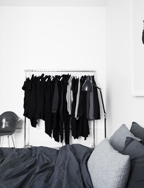 Elle Decoration Magazine. Clothes rack in the room