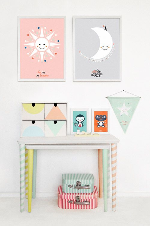 Lurve this look.  #girlsrooms #pastels