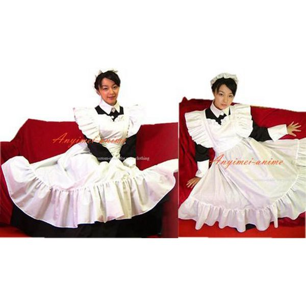 Free Shipping Sissy Maid Dress Lockable Cotton Dress Maid Uniform Cosplay Costume Tailor-made