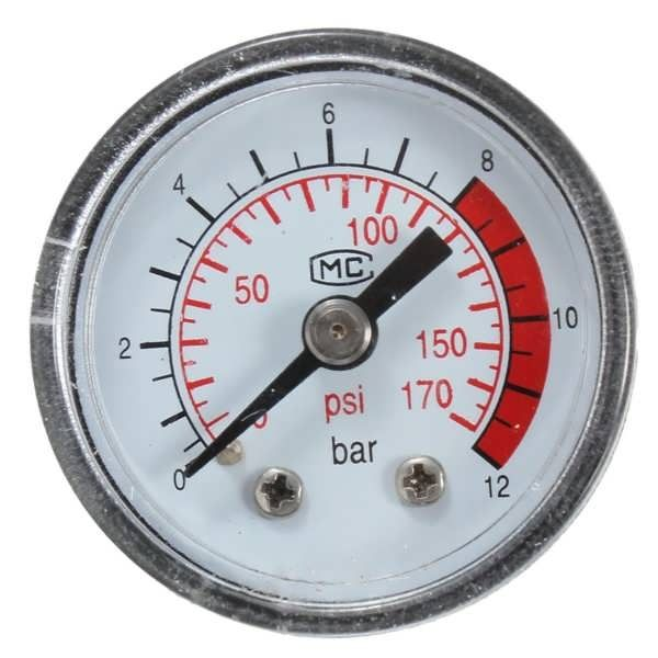 0-170 PSI 0 ~ 12 Bar Black Round Plastic Shell Air Pressure Compressor Gauge  Worldwide delivery. Original best quality product for 70% of it's real price. Buying this product is extra profitable, because we have good production source. 1 day products dispatch from warehouse. Fast &...