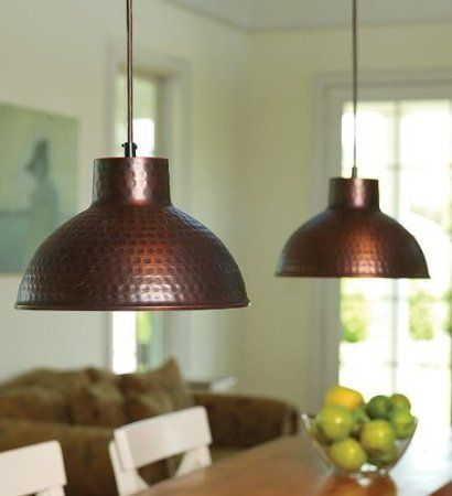 Amazon.com: Screw-In Antique Hammered Copper Pendant Lighting With Adjustable Cord: Lamps & Light Fixtures