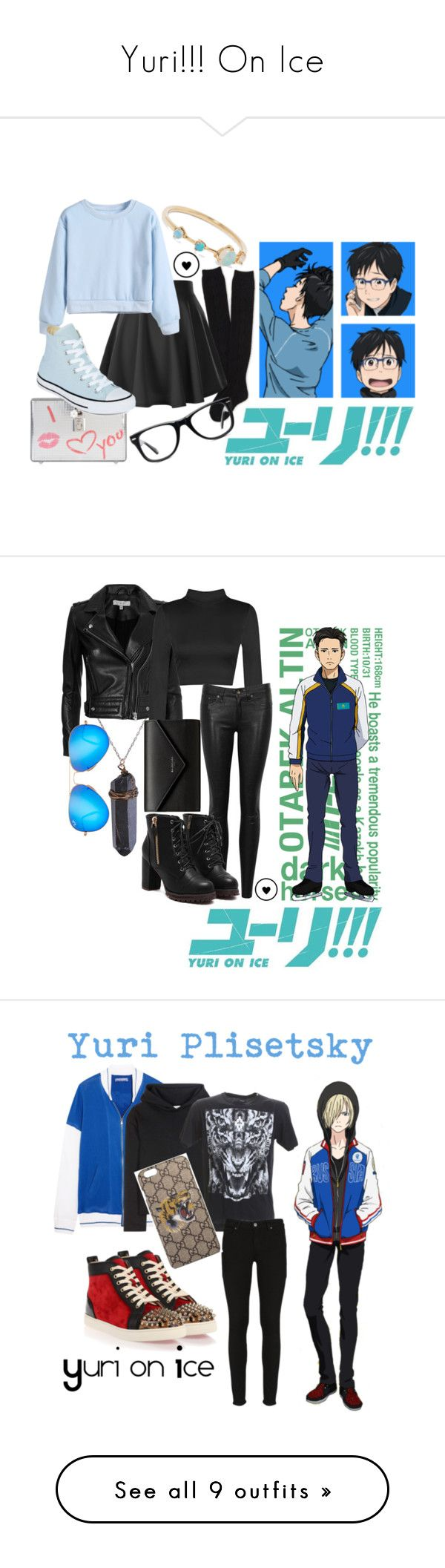 """Yuri!!! On Ice"" by hetaliua ❤ liked on Polyvore featuring WWAKE, Aéropostale, Dolce&Gabbana, Converse, Muse, IRO, rag & bone/JEAN, Balenciaga, Ray-Ban and Koza"