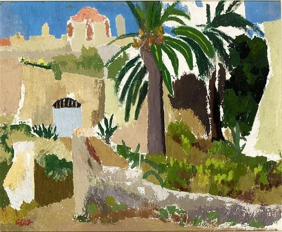 Wim Oepts - PALMTREE, oil on canvas