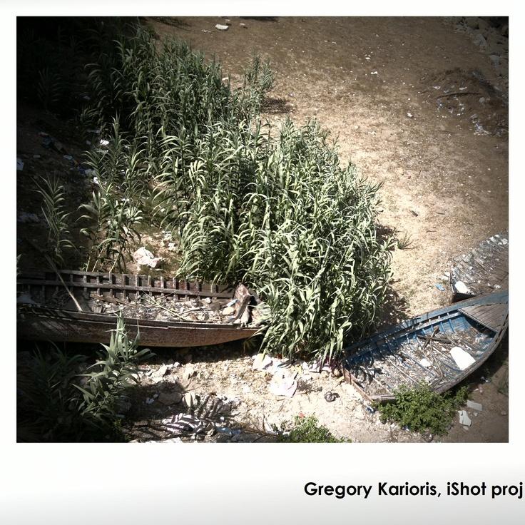 bamboos and boat...by Gregory Karioris