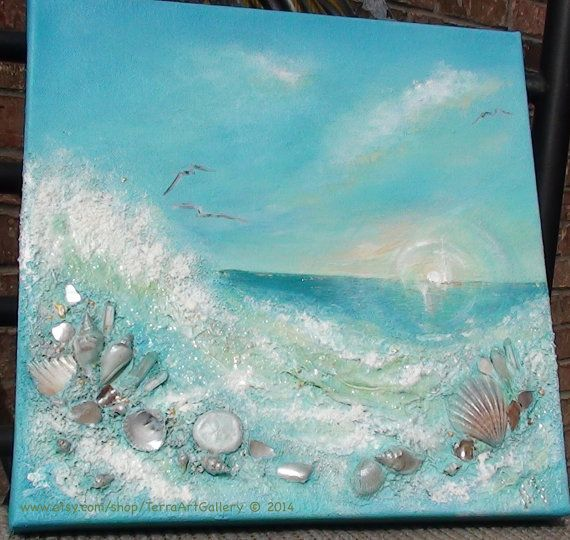 Best 25 sea paintings ideas on pinterest for Nice acrylic paintings
