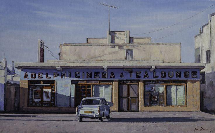 Adelphi Cinema & Tea Lounge, Carnarvon | Oil on canvas 500mm x 800mm Artist: John Kramer www.johnkramer.net