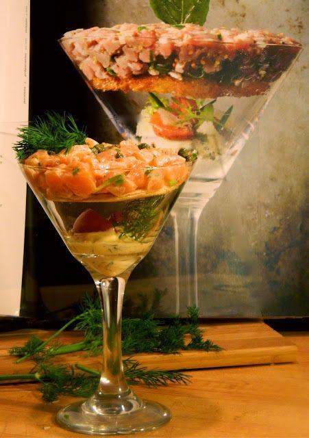 Madame Anne aux fourneaux: Tartare de saumon, mayonnaise à l'huile de pépins de raisins