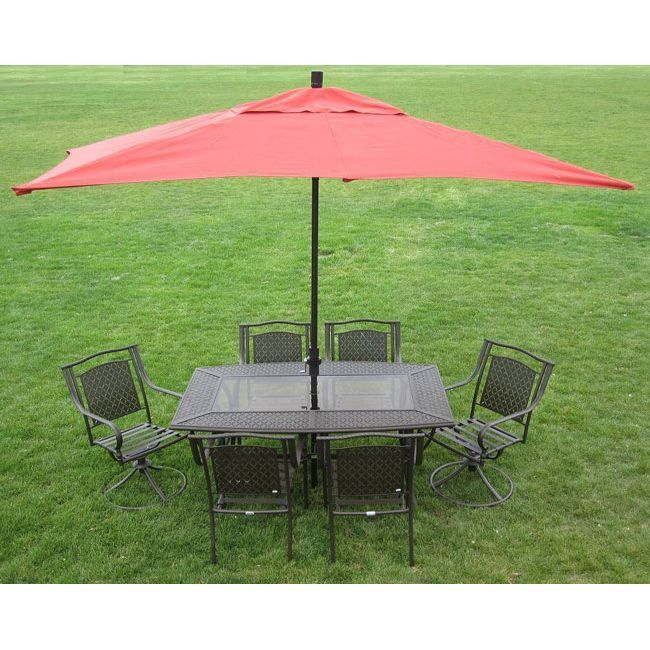 Premium 10' Rectangular Patio Umbrella (Terracotta), Orange, Size 10-foot (Aluminum)