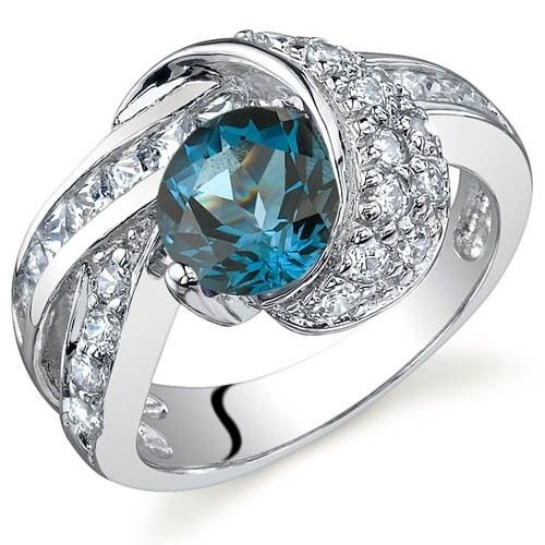 'Genuine London Blue Topaz .925 Silver Ring SZ 5-9' is going up for auction at  8am Mon, Dec 10 with a starting bid of $1.