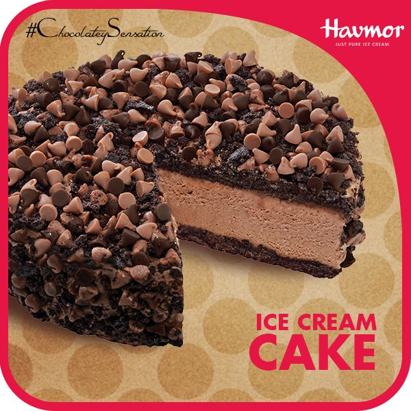 A cake is the mark for all celebration and an Ice cream, the mark for all joy. Havmor Ice Cream puts them together and gives you something fun and special; the Chocolate Ice cream Cake.