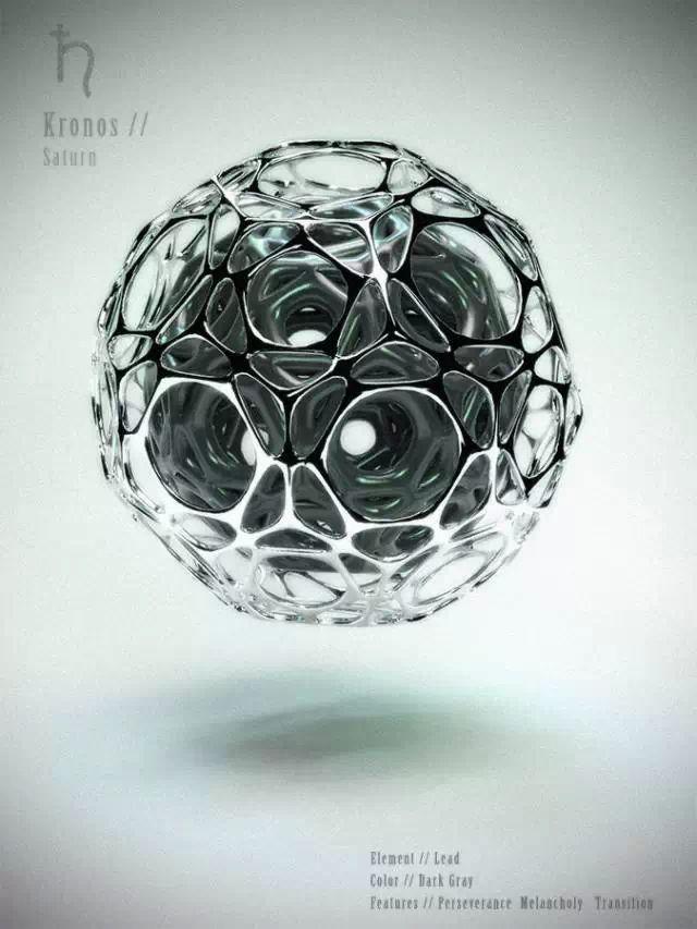 Michele Durazzi独特的3D打印太阳系九大行星   新鲜创意图志
