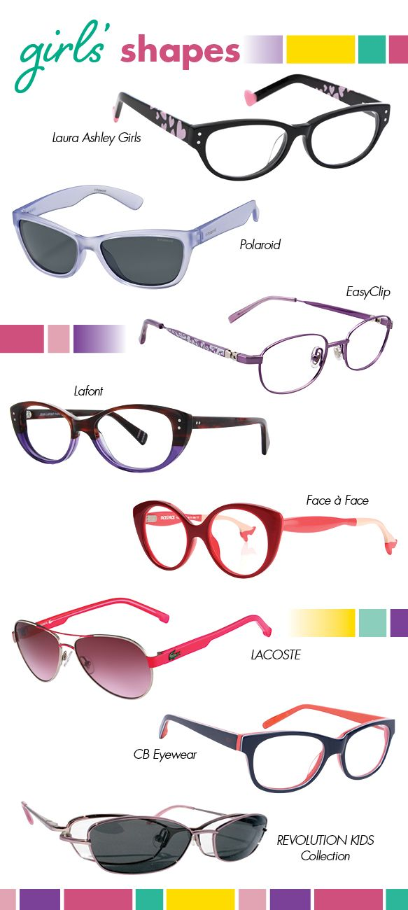 Statement-making and demure cat-eyes, classical wayfarers and aviators, studious oval and almond silhouettesBack To School