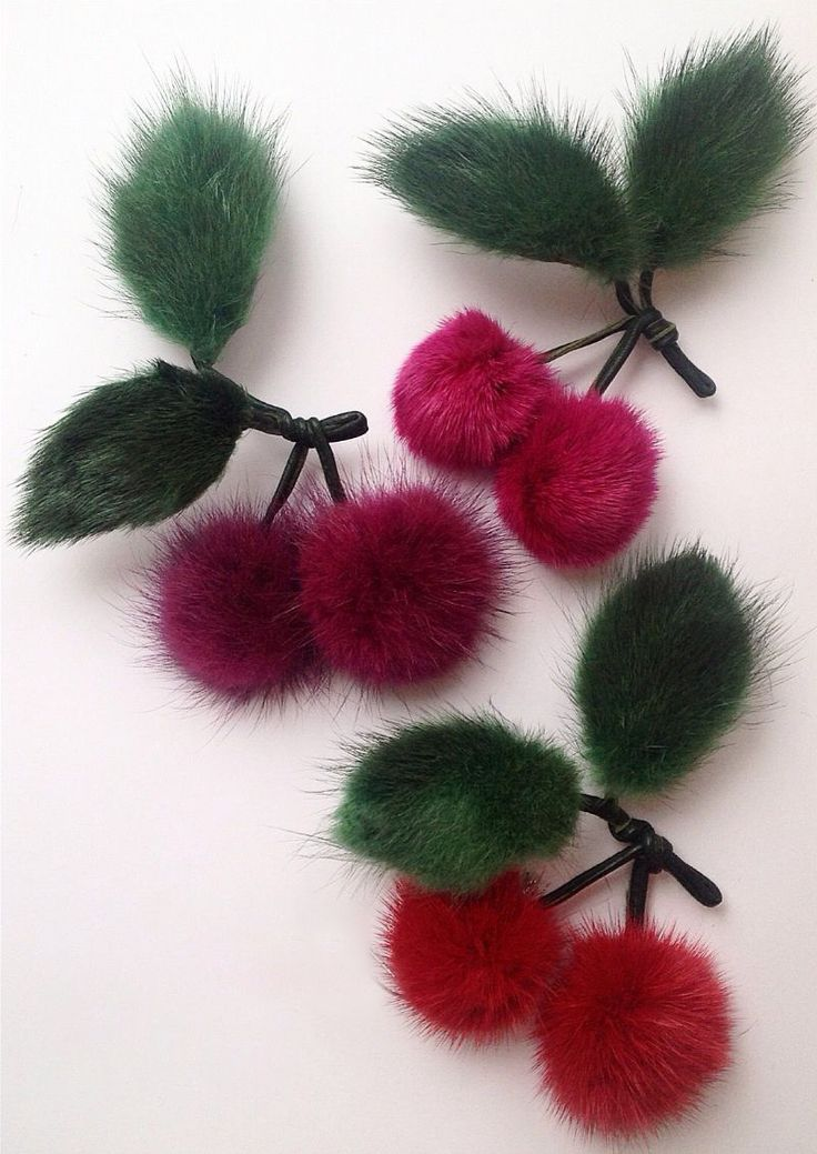 Faux Fur Cherry Red