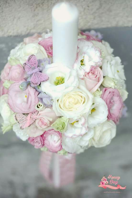 White and baby pink bouquet