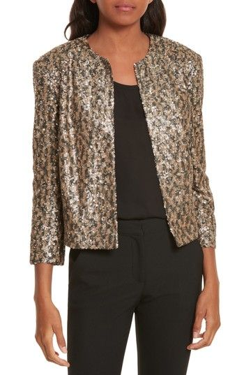 Free shipping and returns on Helene Berman Sequin Crop Jacket at Nordstrom.com. Shine bright like a diamond in a sparkling, all-glitter cropped jacket with a clean, collarless cut.