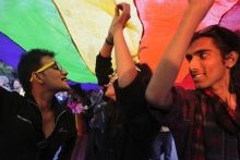 Gay rights activists marched in New Delhi, India in November, 2013 to urge an end to all forms of discrimination against LGBT people in India (Tsering Topgyal/The Associated Press). CBC News.