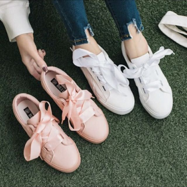 Puma shoes lace | Ribbon shoes, Sneakers shoes outfit ...