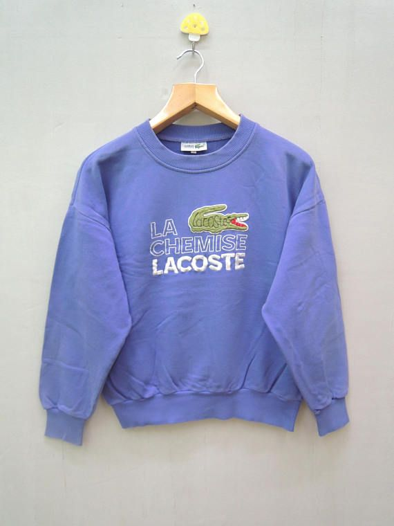 506be1a43 Vintage Chemise Lacoste Big Logo Pull Over Sweatshirt Sport Wear Size 3 Tag  Read Size : 3 Material : 100% Cotton Made in : Not on tag Measurement  Armpit ...